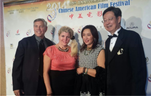 Stephen Christensen, Dean, School of Business at Concordia University Irvine, his wife Michelle and Robert Sun 孙文铁, Chairman, American-Chinese CEO Society 美国美中企业家商会, and his wife Lisa Tang.